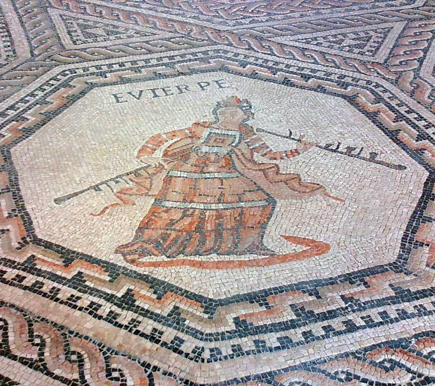 Euterpe-Roman-mosaic-in-Vichten-Luxembourg